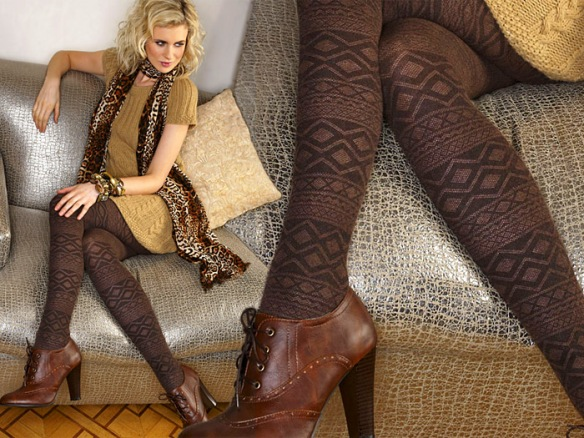 Charno Fairisle Cotton Tights