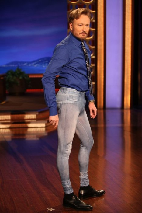 Conan O'Brien wears jeggings