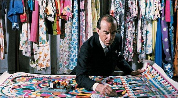 Emilio Pucci at work