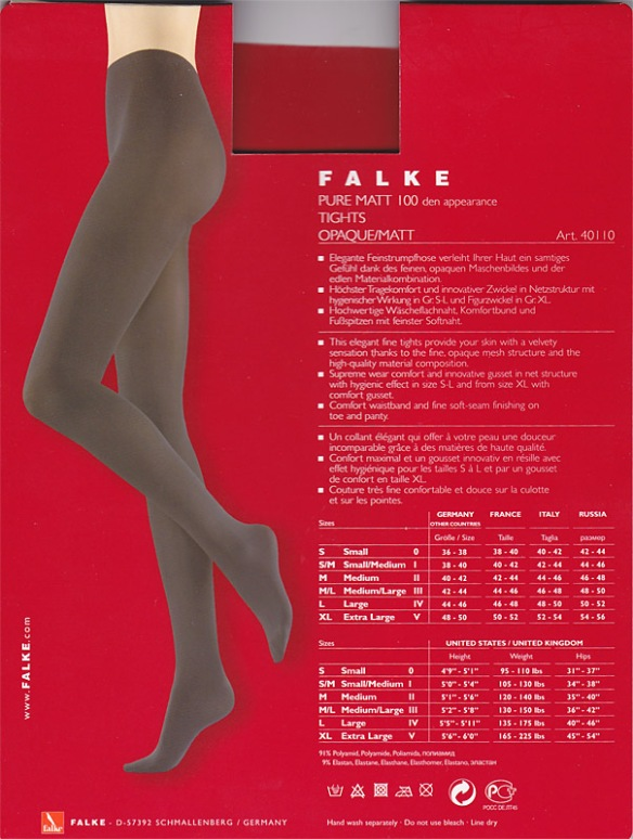 Falke Pure Matt 100 back