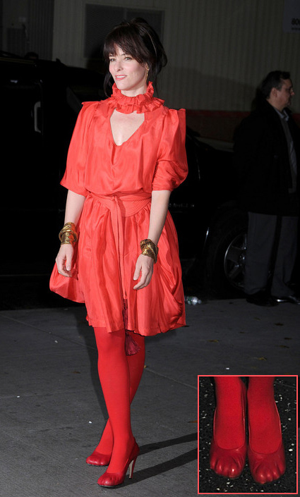 Parker Posey Viviene Westwood red shoes