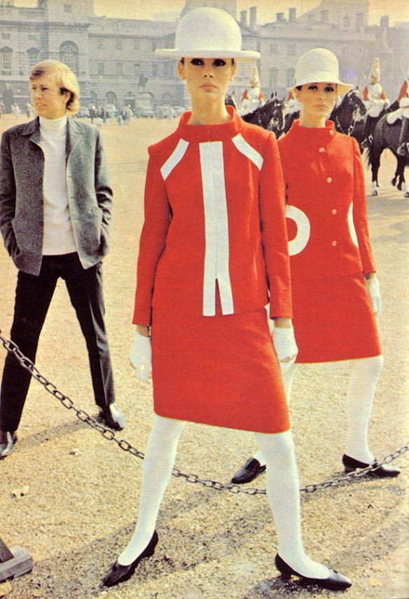 UK 1960s style, white tights