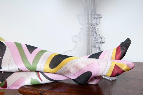 Emilio Pucci tights, il filo di perle vintage