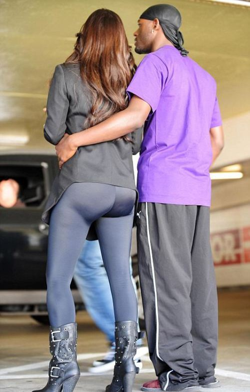 Kim Kardashian - tights as pants