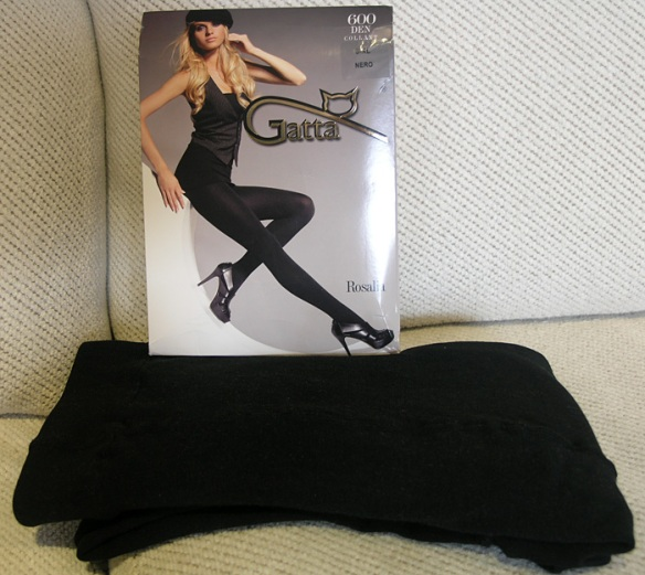 Gatta Rosalia 600 Denier Polar tights package