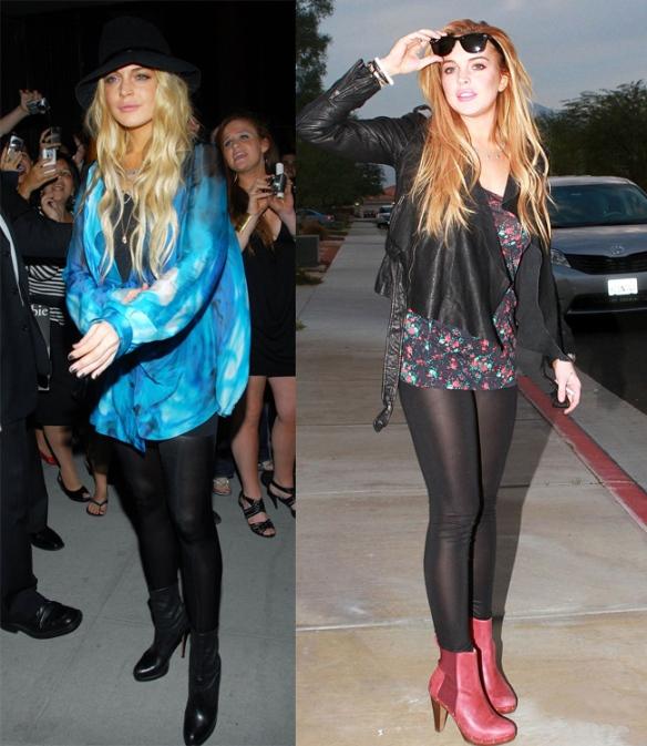 Lindsay Lohan revealing leggings